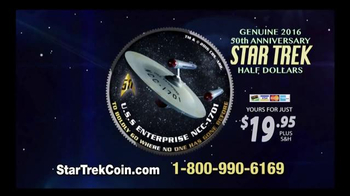 2016 50th Anniversary Star Trek Half Dollars TV Spot, \'Boldly Go\'