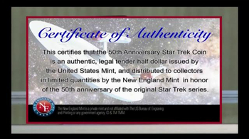 2016 50th Anniversary Star Trek Half Dollars TV Spot, 'Boldly Go' - Thumbnail 3