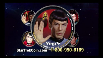 2016 50th Anniversary Star Trek Half Dollars TV Spot, 'Boldly Go' - Thumbnail 6