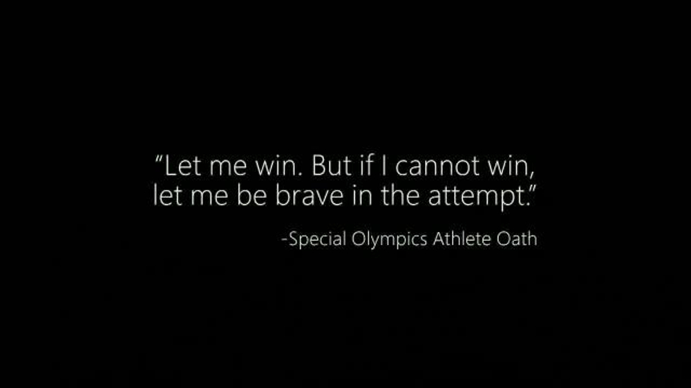 Microsoft Cloud TV Commercial, 'Special Olympics: Be a Champion'