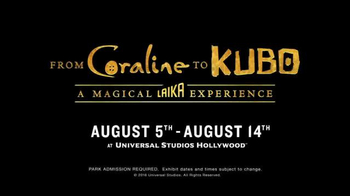 Universal Studios Hollywood TV Spot, 'From Coraline to Kubo' - Thumbnail 10