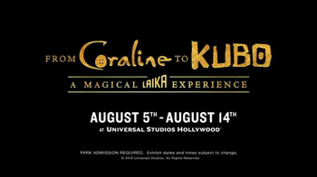 Universal Studios Hollywood TV Spot, 'From Coraline to Kubo' - Thumbnail 9