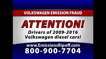 The Driscoll Firm TV Spot, 'Volkswagen Emission Fraud' - Thumbnail 1