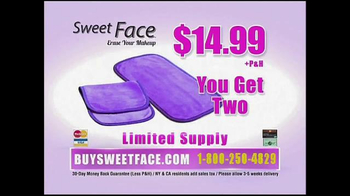 Sweet Face Makeup Eraser TV Spot, 'Just Add Water' - Thumbnail 8