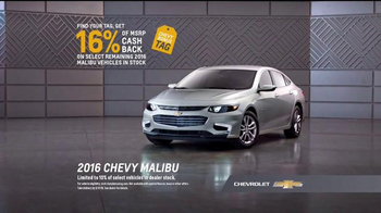 Chevrolet Bonus Tag TV Spot, 'Up: 2016 Malibu' - Thumbnail 6