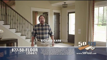50 Floor Free Installation Sale TV Spot, 'Improvements' Ft. Richard Karn - Thumbnail 1