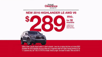 Toyota Annual Clearance Event TV Spot, 'Your Team: Sienna & Highlander' - Thumbnail 6