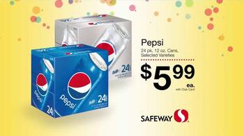 Safeway Huge Anniversary Sale TV Spot, 'Pepsi, Fritos and Cheetos' - Thumbnail 1