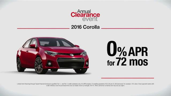 Toyota Annual Clearance Event TV Spot, '2016 Corolla: Dancing' - Thumbnail 5