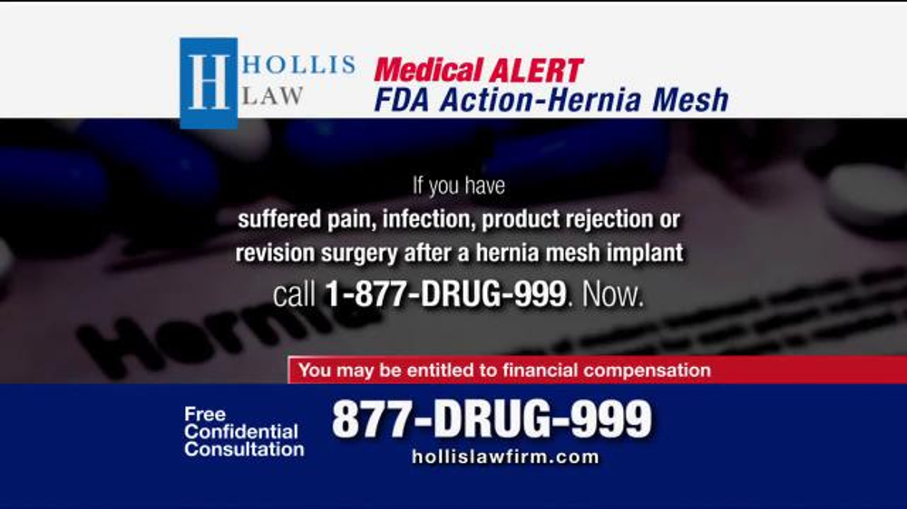The Hollis Law Firm Tv Commercial Hernia Mesh Ispot Tv