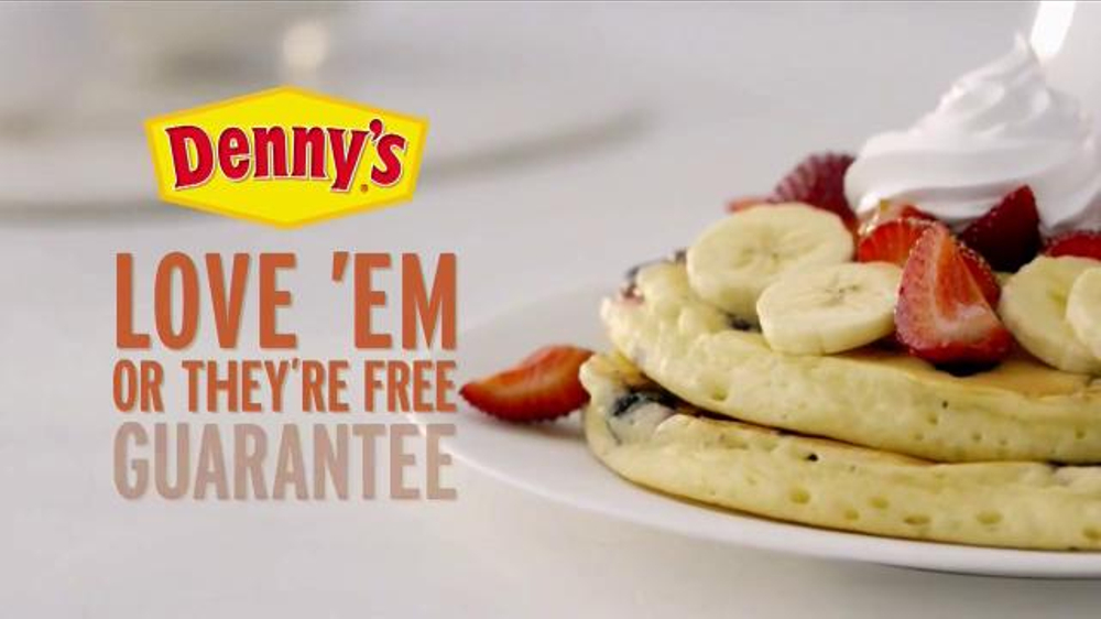 Denny's Buttermilk Pancakes TV Commercial, 'Love 'Em or They're Free Guarantee'