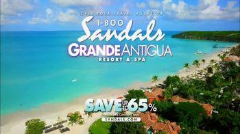 Sandals Grande Antigua Resorts TV Spot, 'Falling in Love' - Thumbnail 9