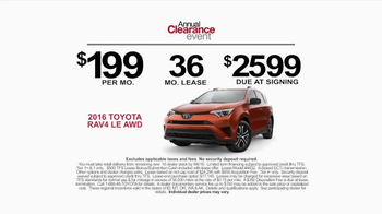 Toyota Annual Clearance Event TV Spot, 'Camping' - Thumbnail 5