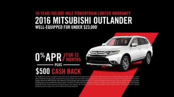 2016 Mitsubishi Outlander TV Spot, 'Fascia: Cash Back' - Thumbnail 5