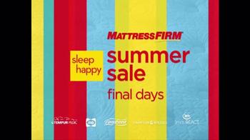 Mattress Firm Sleep Happy Summer Sale TV Spot, 'Queen Sets & Cool Cash' - Thumbnail 1