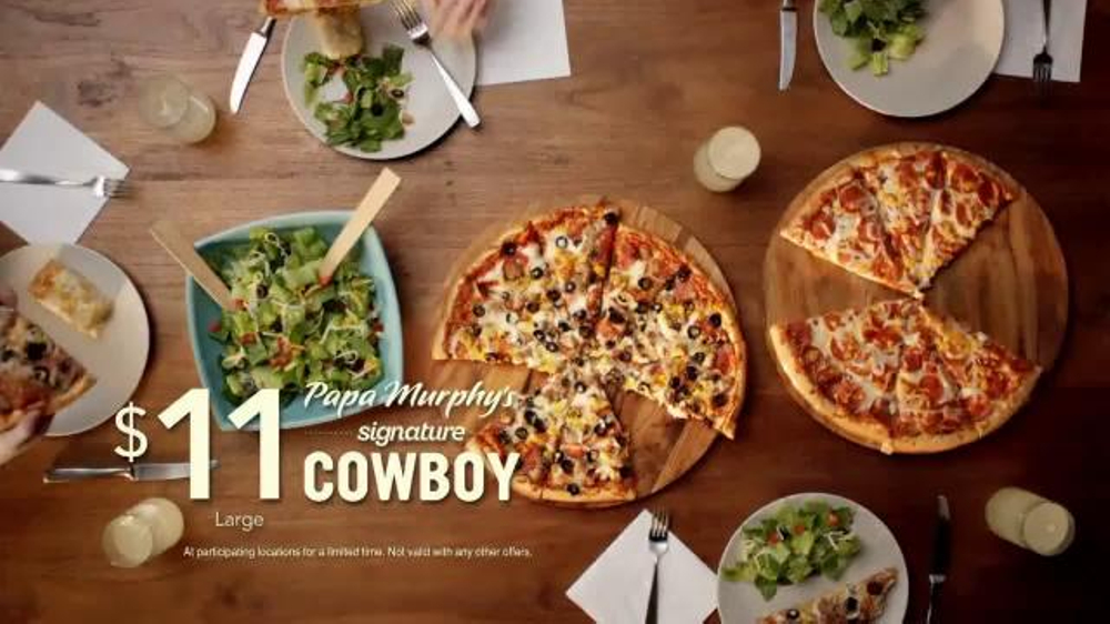 Papa Murphy's Cowboy Pizza TV Commercial, 'Dinner Table'