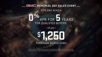 GMC Memorial Day Sales Event TV Spot, '2016 Acadia: Net' Song by The Who - Thumbnail 5