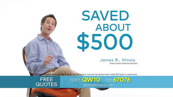 Quote Wizard TV Spot, 'Compare Car Insurance Quotes' - Thumbnail 4