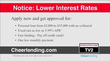 Cheerlending TV Spot, 'Lower Interest Rates' - Thumbnail 3