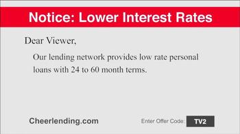 Cheerlending TV Spot, 'Lower Interest Rates' - Thumbnail 2