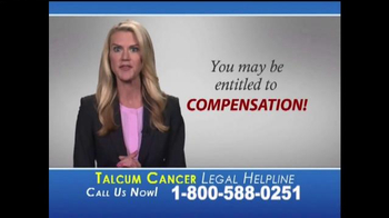 Slack & Davis, LLP TV Spot, 'Talcum Cancer Legal Helpline' - Thumbnail 3