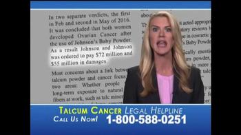 Slack & Davis, LLP TV Spot, 'Talcum Cancer Legal Helpline' - Thumbnail 5