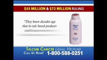 Slack & Davis, LLP TV Spot, 'Talcum Cancer Legal Helpline' - Thumbnail 6