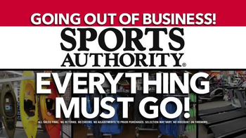 Sports Authority TV Spot, 'Going Out of Business'