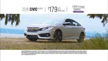 Honda One Tank Trips Sweepstakes TV Spot, 'Alderbrook Lodge: 2016 Civic' - Thumbnail 7