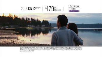 Honda One Tank Trips Sweepstakes TV Spot, 'Alderbrook Lodge: 2016 Civic' - Thumbnail 8