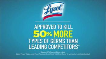Lysol Power TV Spot, 'Toilet Germs' - Thumbnail 9