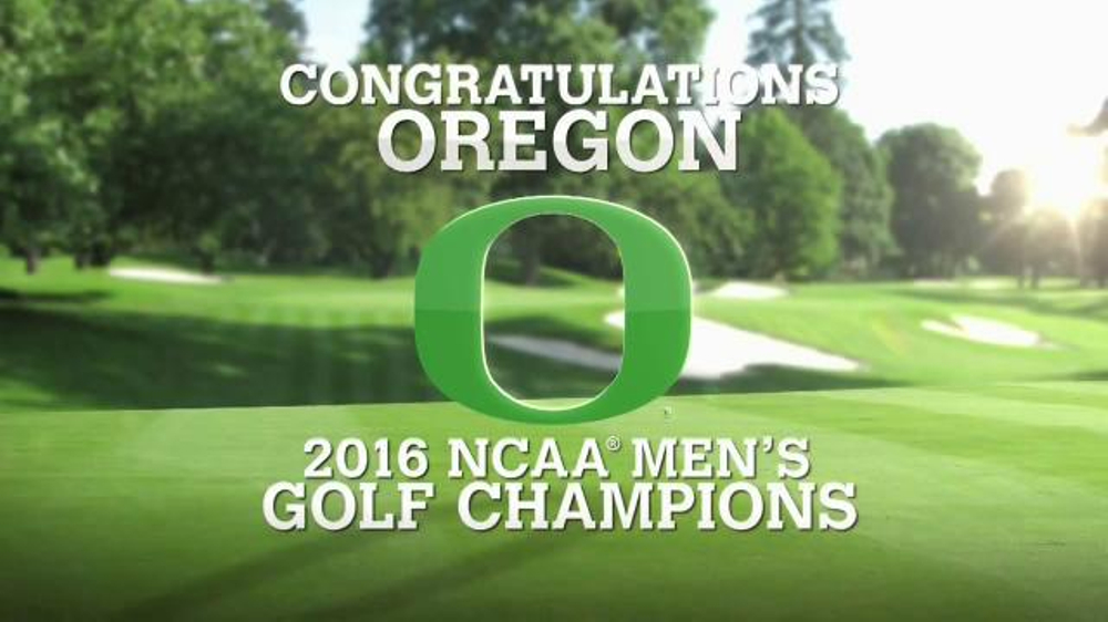 Golf Channel Shop TV Commercial, '2016 NCAA Men's Golf Champions: Oregon'