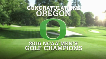 Golf Channel Shop TV Spot, '2016 NCAA Men's Golf Champions: Oregon' - 3 commercial airings