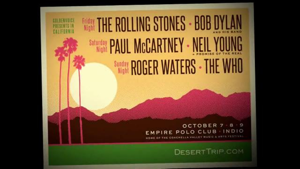 Desert Trip TV Commercial, 'Three Nights of Rock and Roll'