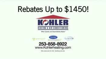 Carrier Corporation TV Spot, 'Kohler Heating and Air' - Thumbnail 6