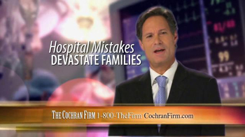 The Cochran Law Firm TV Spot, 'Victims of Medical Malpractice'