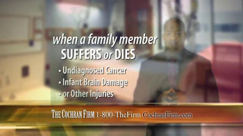 The Cochran Law Firm TV Spot, 'Victims of Medical Malpractice' - Thumbnail 6