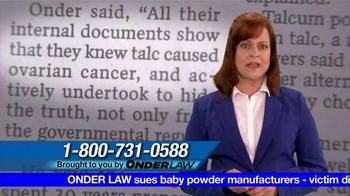 Onder Law Firm TV Spot, 'Ovarian Cancer'