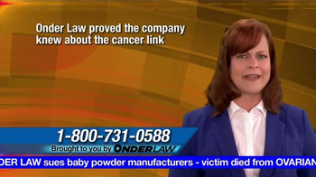 Onder Law Firm TV Spot, 'Ovarian Cancer' - Thumbnail 5