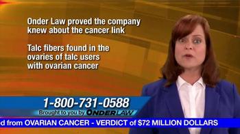 Onder Law Firm TV Spot, 'Ovarian Cancer' - Thumbnail 6