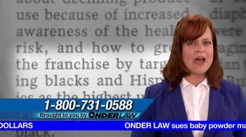 Onder Law Firm TV Spot, 'Ovarian Cancer' - Thumbnail 7