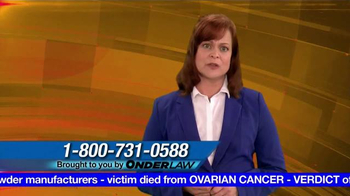 Onder Law Firm TV Spot, 'Ovarian Cancer' - Thumbnail 8