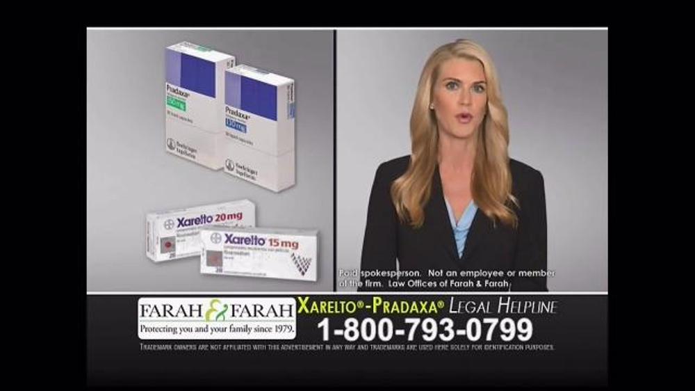 farah farah tv commercial xarelto and pradaxa ispot tv