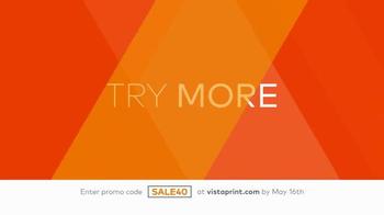 Vistaprint TV Spot, 'Try More' - Thumbnail 1