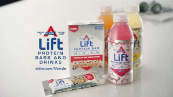 Atkins Lift Protein Bar TV Spot, 'Steady Energy' - Thumbnail 8