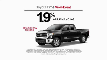 Toyota Time Sales Event TV Spot, 'Happy Camper' - Thumbnail 5