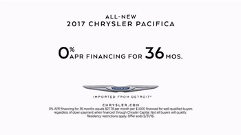 2017 Chrysler Pacifica TV Spot, 'Tennis: Lazy Culture' Feat. Jim Gaffigan - Thumbnail 9