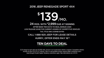 Jeep Ten Days to Deal TV Spot, 'Take on the World' - Thumbnail 2