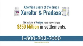 Goldwater Law Firm TV Spot, 'Xarelto and Pradaxa Settlements' - Thumbnail 2