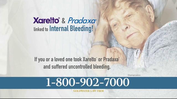 Goldwater Law Firm TV Spot, 'Xarelto and Pradaxa Settlements'